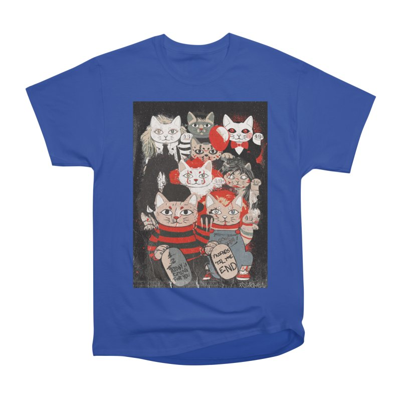 Horror Maneki Neko Vintage Gang Halloween Party 2019 T-Shirt Men's T-Shirt by miskel's Shop