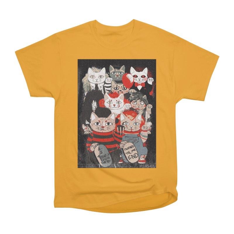 Horror Maneki Neko Vintage Gang Halloween Party 2019 T-Shirt Men's Heavyweight T-Shirt by miskel's Shop