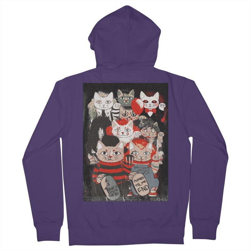 Horror Maneki Neko Vintage Gang Halloween Party 2019 T-Shirt Women's French Terry Zip-Up Hoody by miskel's Shop
