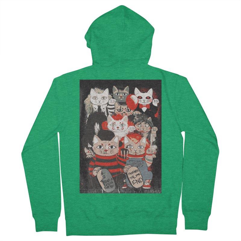 Horror Maneki Neko Vintage Gang Halloween Party 2019 T-Shirt Men's Zip-Up Hoody by miskel's Shop