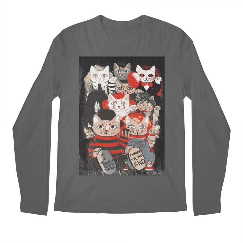 Horror Maneki Neko Vintage Gang Halloween Party 2019 T-Shirt Men's Longsleeve T-Shirt by miskel's Shop