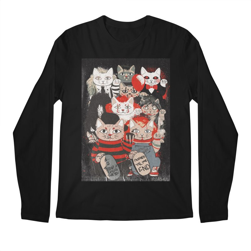Horror Maneki Neko Vintage Gang Halloween Party 2019 T-Shirt Men's Regular Longsleeve T-Shirt by miskel's Shop