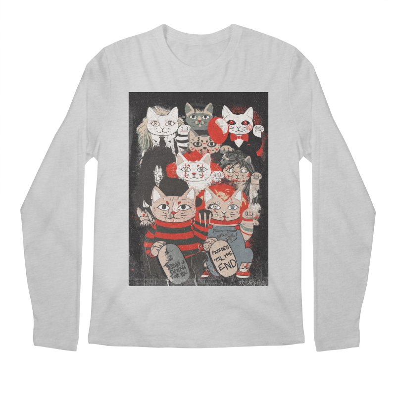 Horror Maneki Neko Vintage Gang Halloween Party 2019 T-Shirt Men's Regular Longsleeve T-Shirt by miskel's Shop