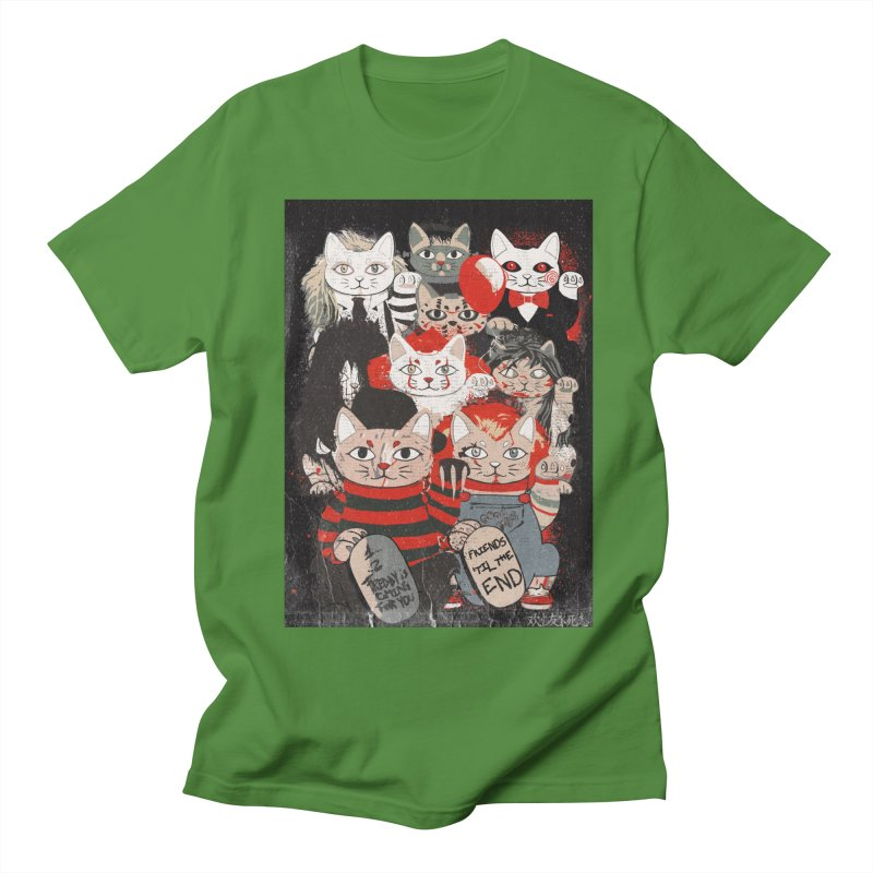 Horror Maneki Neko Vintage Gang Halloween Party 2019 T-Shirt Men's Regular T-Shirt by miskel's Shop