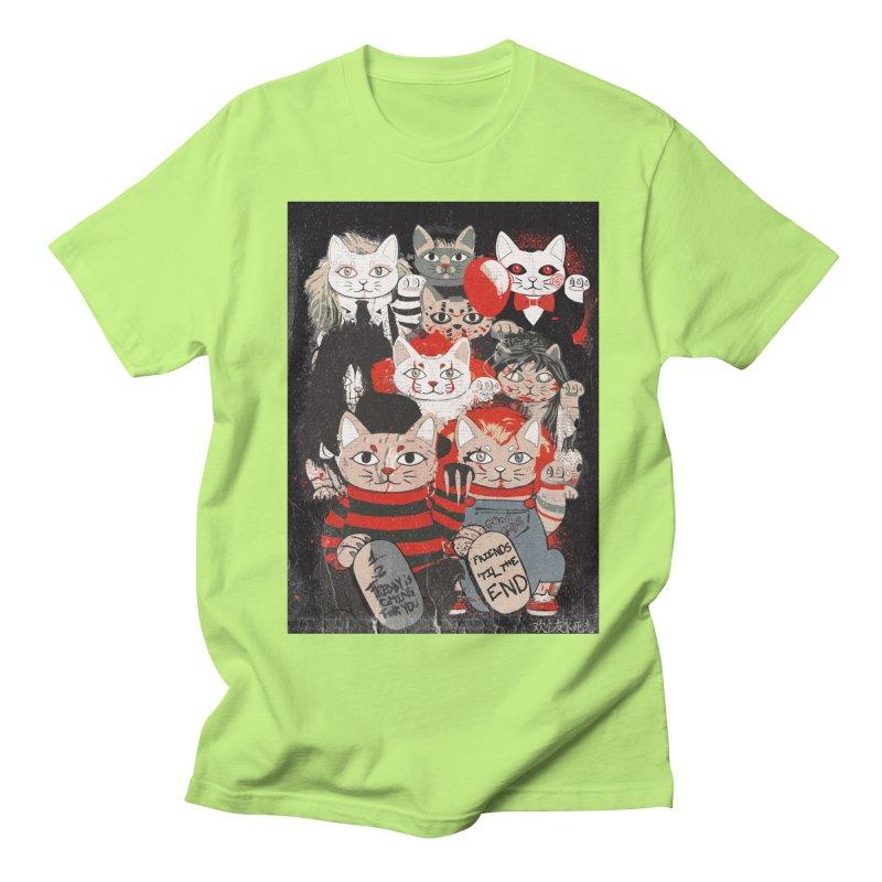 Horror Maneki Neko Vintage Gang Halloween Party 2019 T-Shirt Women's Regular Unisex T-Shirt by miskel's Shop