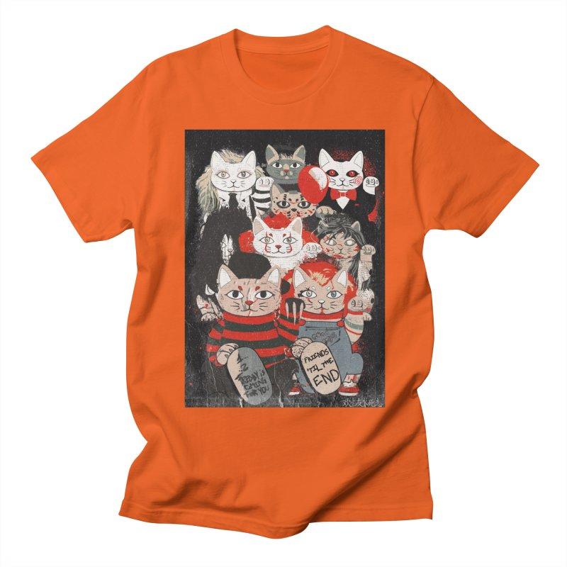 Horror Maneki Neko Vintage Gang Halloween Party 2019 T-Shirt Men's Regular T-Shirt by miskel's Shop