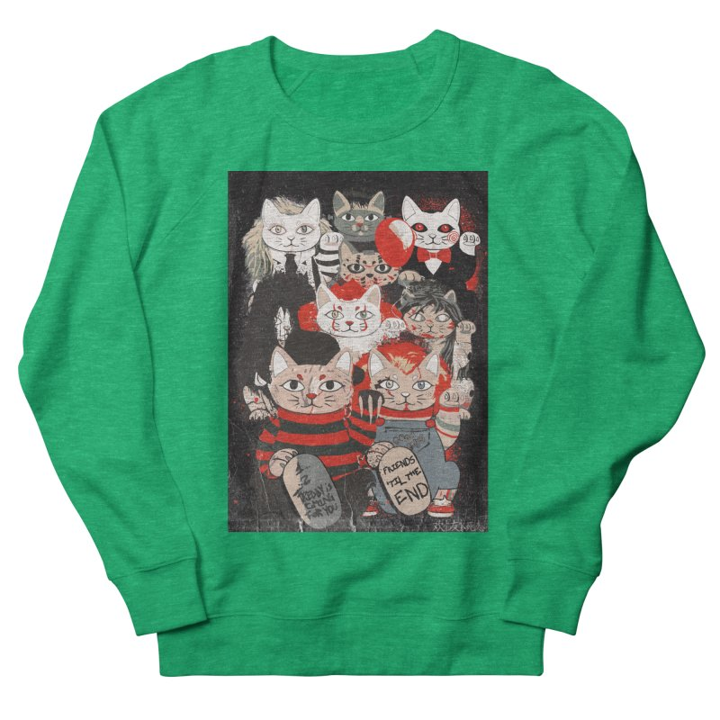 Horror Maneki Neko Vintage Gang Halloween Party 2019 T-Shirt Women's Sweatshirt by miskel's Shop