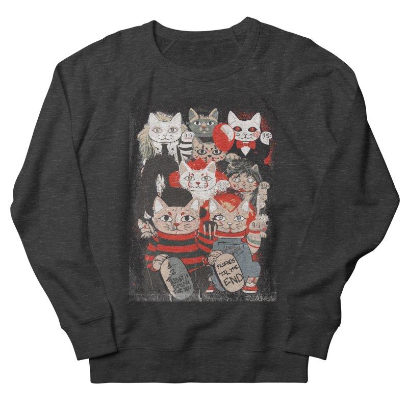 Horror Maneki Neko Vintage Gang Halloween Party 2019 T-Shirt Women's French Terry Sweatshirt by miskel's Shop