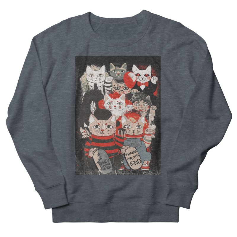 Horror Maneki Neko Vintage Gang Halloween Party 2019 T-Shirt Men's French Terry Sweatshirt by miskel's Shop