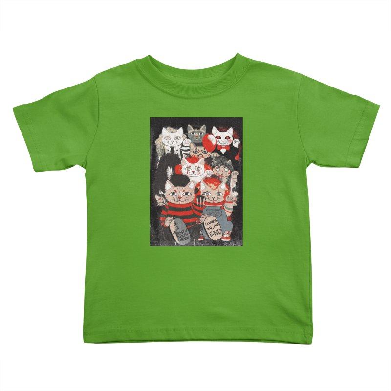 Horror Maneki Neko Vintage Gang Halloween Party 2019 T-Shirt Kids Toddler T-Shirt by miskel's Shop