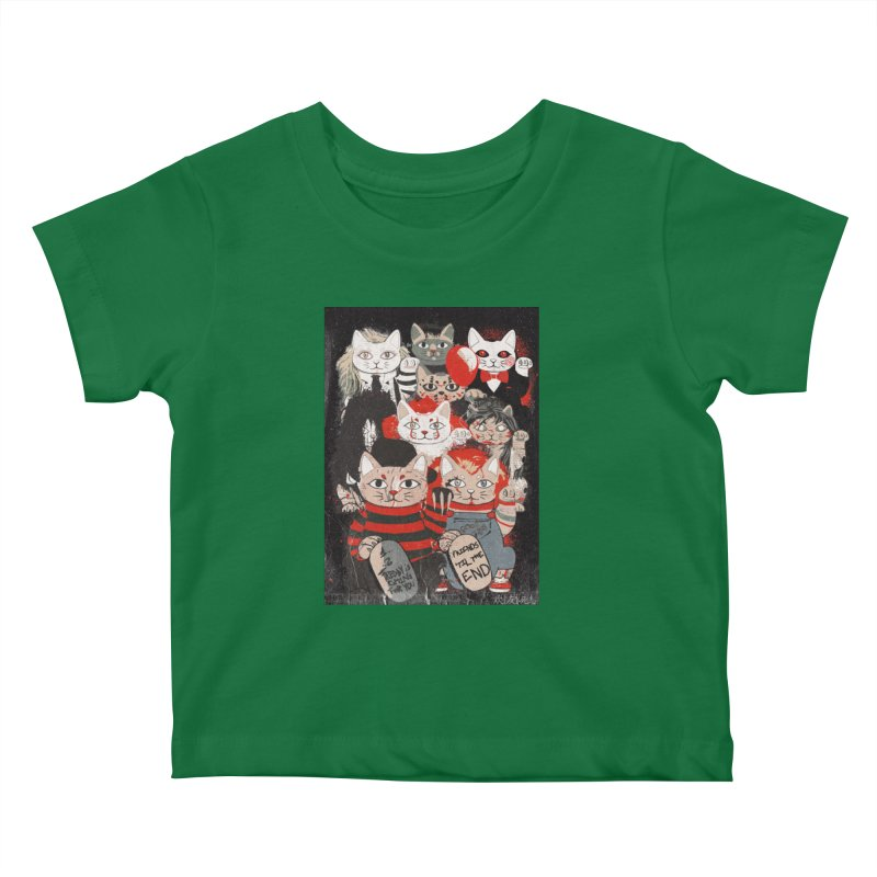 Horror Maneki Neko Vintage Gang Halloween Party 2019 T-Shirt Kids Baby T-Shirt by miskel's Shop
