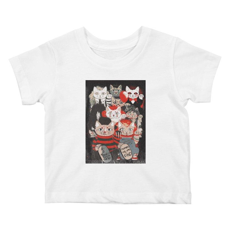 Horror Maneki Neko Vintage Gang Halloween Party 2019 T-Shirt Kids Baby T-Shirt by miskel's Shop