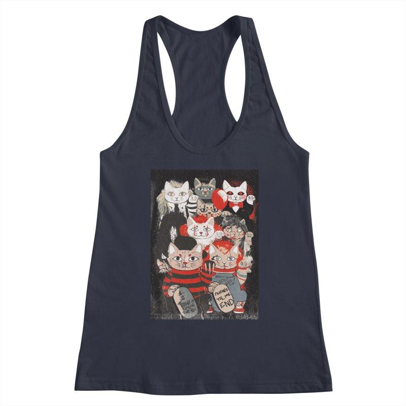 Horror Maneki Neko Vintage Gang Halloween Party 2019 T-Shirt Women's Tank by miskel's Shop