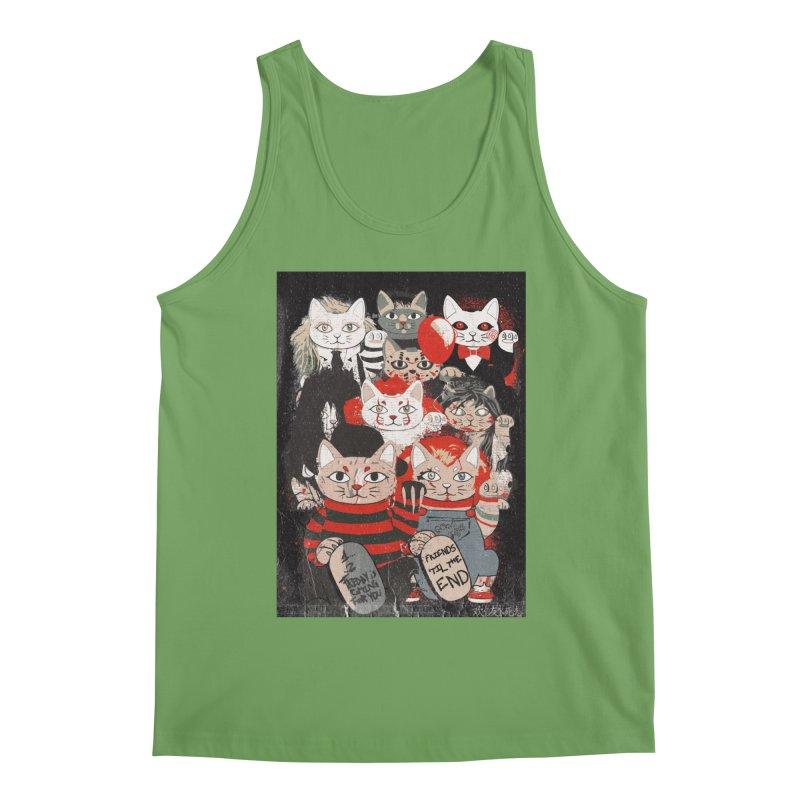 Horror Maneki Neko Vintage Gang Halloween Party 2019 T-Shirt Men's Tank by miskel's Shop