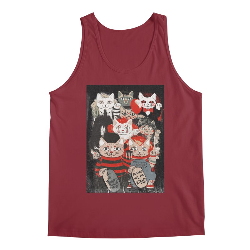 Horror Maneki Neko Vintage Gang Halloween Party 2019 T-Shirt Men's Tank by miskel's Shop