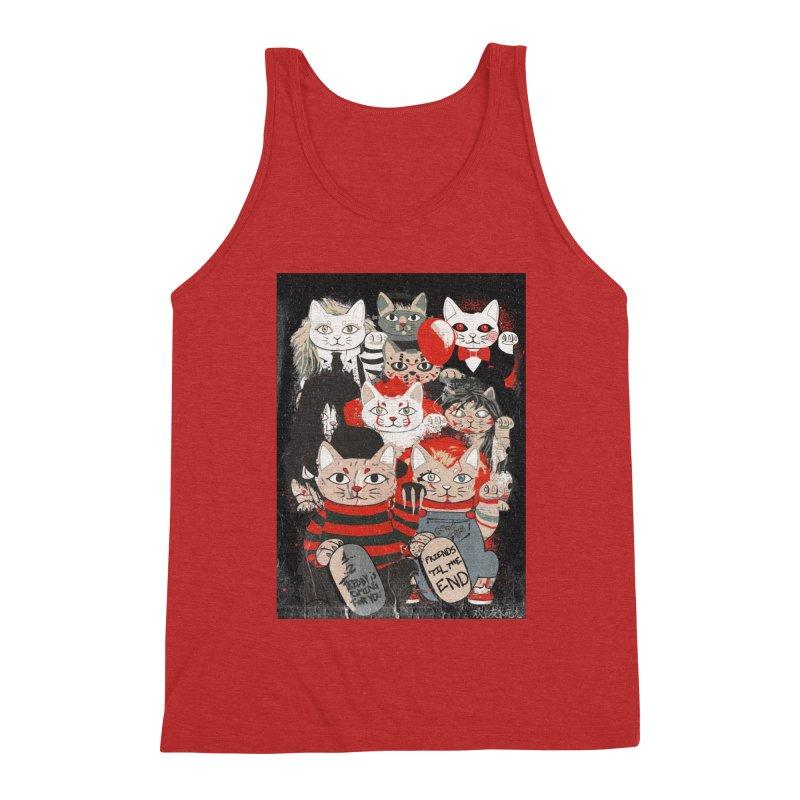 Horror Maneki Neko Vintage Gang Halloween Party 2019 T-Shirt Men's Triblend Tank by miskel's Shop