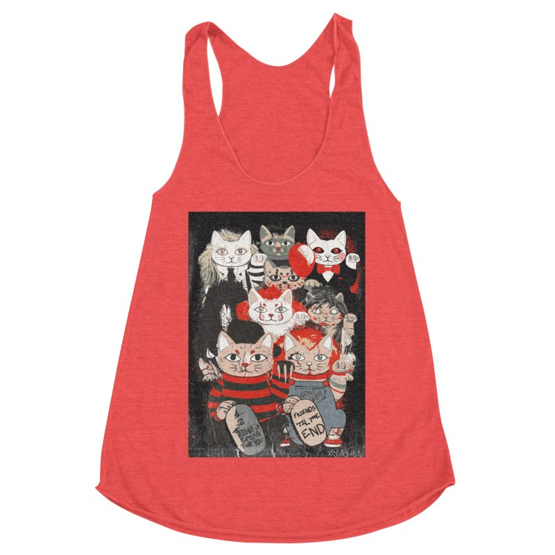 Horror Maneki Neko Vintage Gang Halloween Party 2019 T-Shirt Women's Tank by miskel's Shop