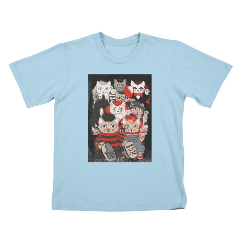 Horror Maneki Neko Vintage Gang Halloween Party 2019 T-Shirt Kids T-Shirt by miskel's Shop