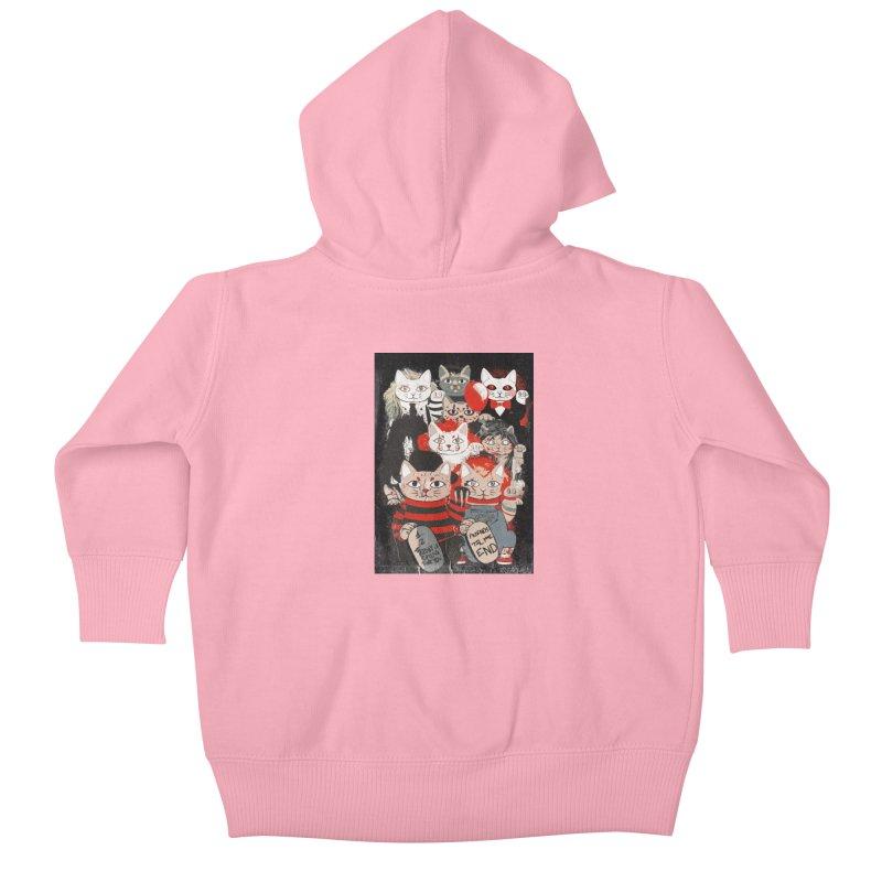 Horror Maneki Neko Vintage Gang Halloween Party 2019 T-Shirt Kids Baby Zip-Up Hoody by miskel's Shop