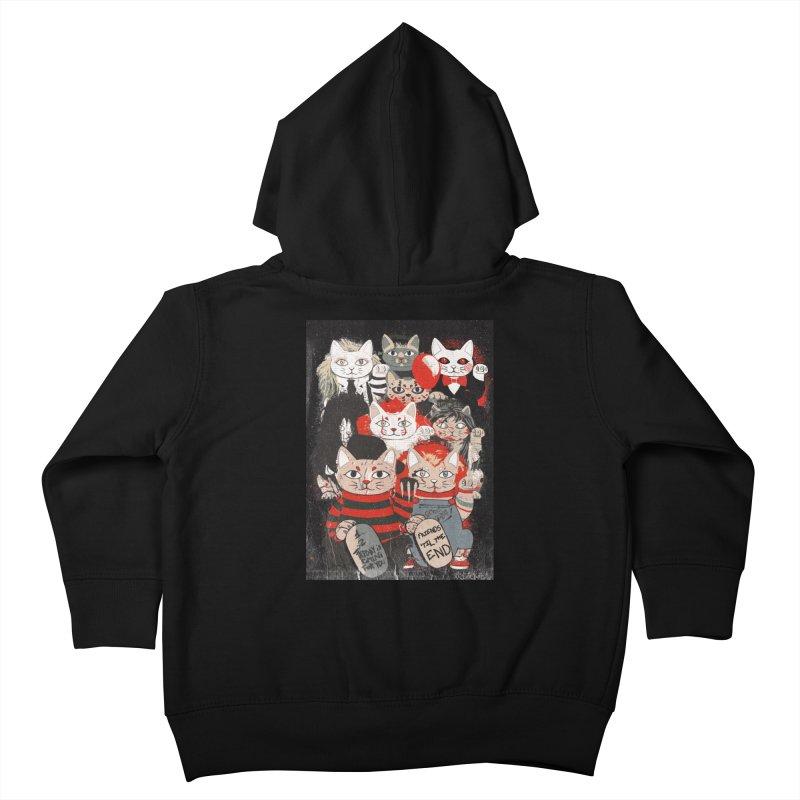 Horror Maneki Neko Vintage Gang Halloween Party 2019 T-Shirt Kids Toddler Zip-Up Hoody by miskel's Shop
