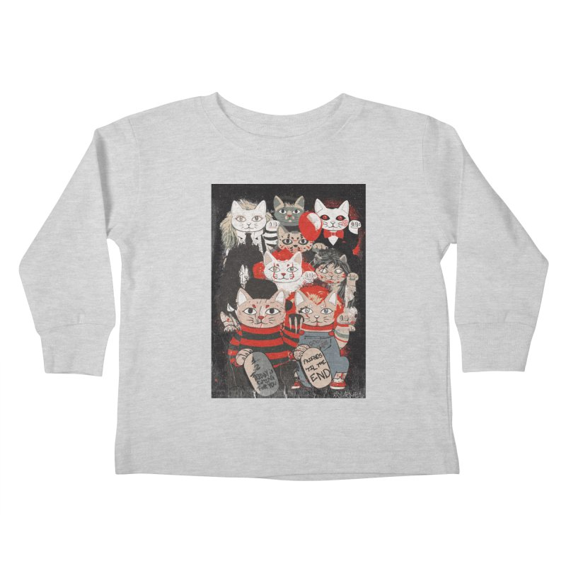 Horror Maneki Neko Vintage Gang Halloween Party 2019 T-Shirt Kids Toddler Longsleeve T-Shirt by miskel's Shop