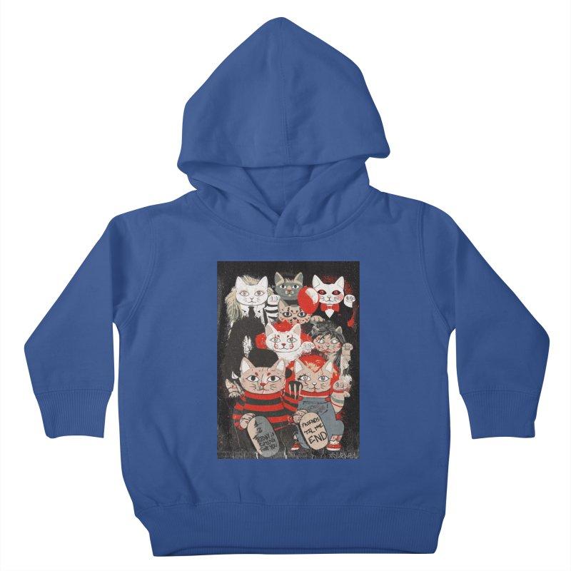 Horror Maneki Neko Vintage Gang Halloween Party 2019 T-Shirt Kids Toddler Pullover Hoody by miskel's Shop