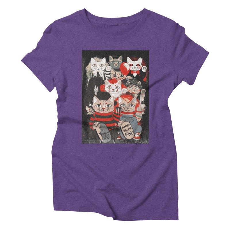 Horror Maneki Neko Vintage Gang Halloween Party 2019 T-Shirt Women's Triblend T-Shirt by miskel's Shop