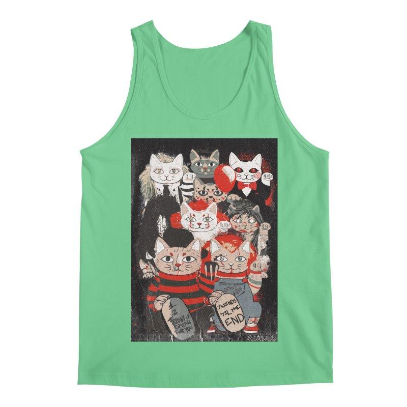 Horror Maneki Neko Vintage Gang Halloween Party 2019 T-Shirt Men's Regular Tank by miskel's Shop