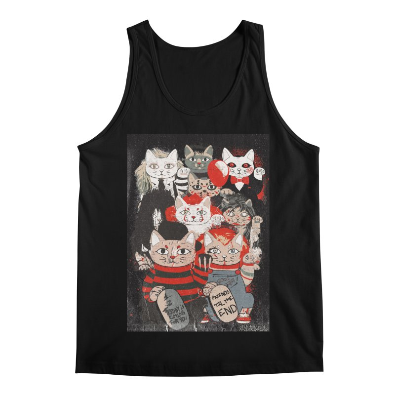 Horror Maneki Neko Vintage Gang Halloween Party 2019 T-Shirt Men's Regular Tank by miskel's Shop