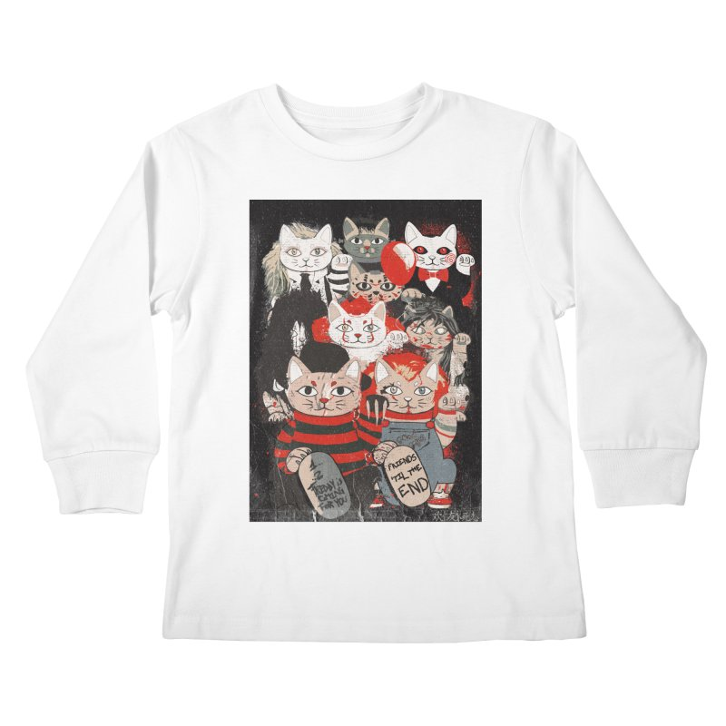Horror Maneki Neko Vintage Gang Halloween Party 2019 T-Shirt Kids Longsleeve T-Shirt by miskel's Shop