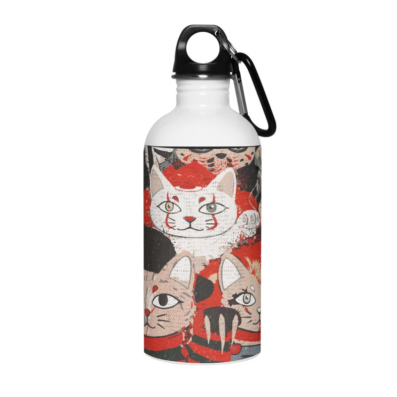 Horror Maneki Neko Vintage Gang Halloween Party 2019 T-Shirt Accessories Water Bottle by miskel's Shop