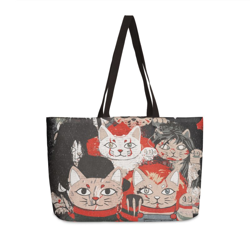 Horror Maneki Neko Vintage Gang Halloween Party 2019 T-Shirt Accessories Weekender Bag Bag by miskel's Shop
