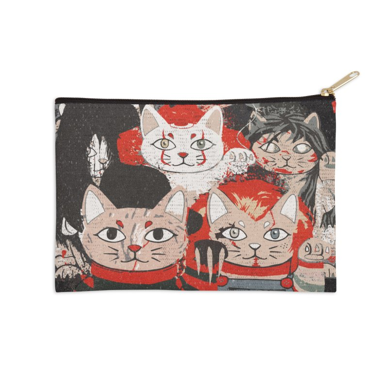 Horror Maneki Neko Vintage Gang Halloween Party 2019 T-Shirt Accessories Zip Pouch by miskel's Shop