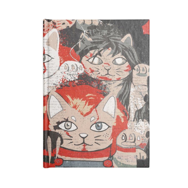 Horror Maneki Neko Vintage Gang Halloween Party 2019 T-Shirt Accessories Lined Journal Notebook by miskel's Shop