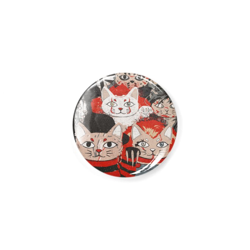 Horror Maneki Neko Vintage Gang Halloween Party 2019 T-Shirt Accessories Button by miskel's Shop