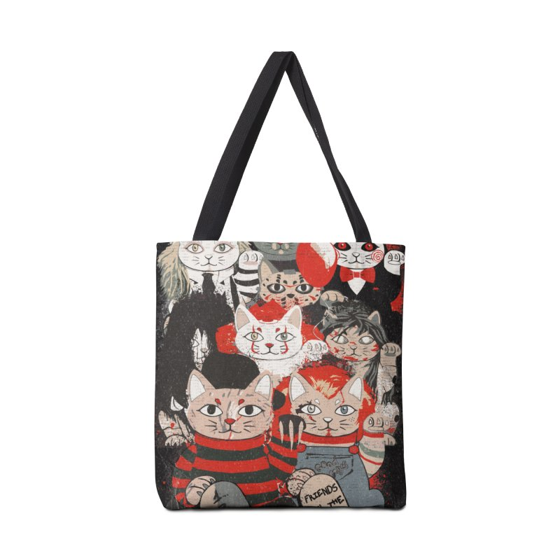 Horror Maneki Neko Vintage Gang Halloween Party 2019 T-Shirt Accessories Tote Bag Bag by miskel's Shop