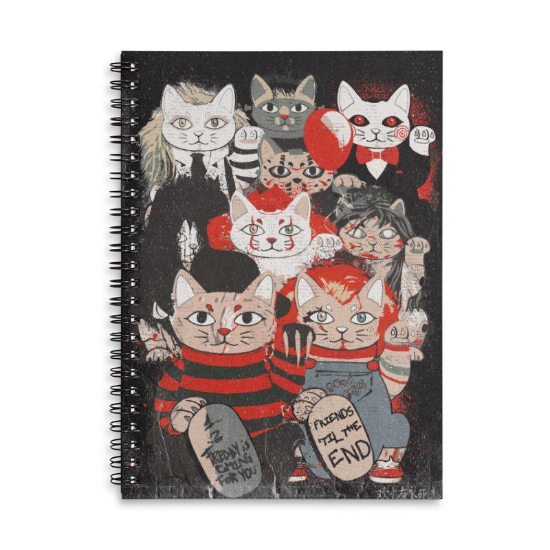 Horror Maneki Neko Vintage Gang Halloween Party 2019 T-Shirt Accessories Lined Spiral Notebook by miskel's Shop