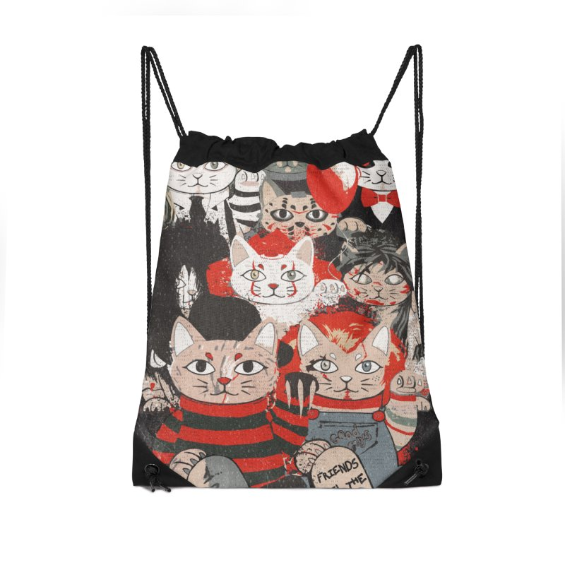 Horror Maneki Neko Vintage Gang Halloween Party 2019 T-Shirt Accessories Drawstring Bag Bag by miskel's Shop
