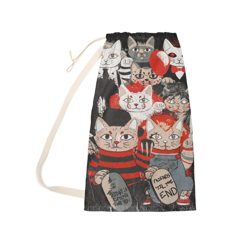 Horror Maneki Neko Vintage Gang Halloween Party 2019 T-Shirt Accessories Laundry Bag Bag by miskel's Shop