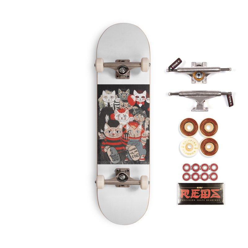 Horror Maneki Neko Vintage Gang Halloween Party 2019 T-Shirt Accessories Skateboard by miskel's Shop