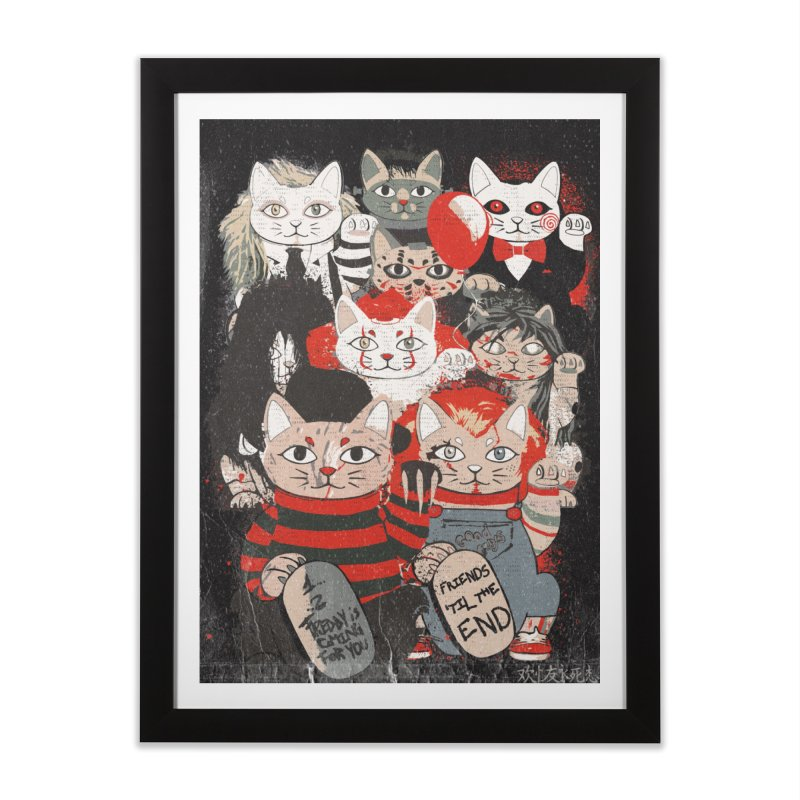 Horror Maneki Neko Vintage Gang Halloween Party 2019 T-Shirt Home Framed Fine Art Print by miskel's Shop