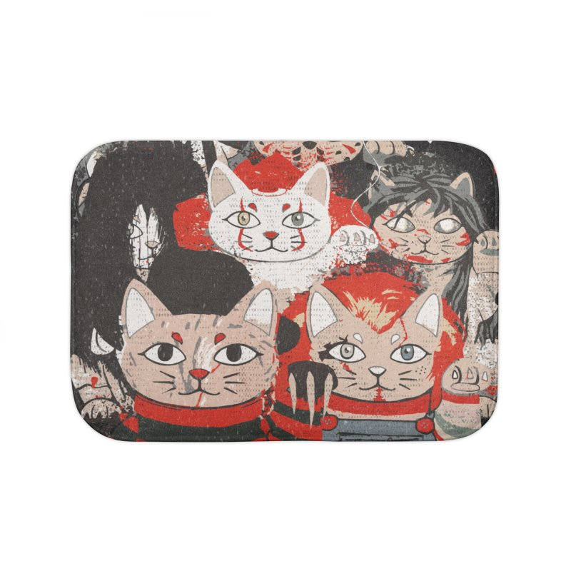 Horror Maneki Neko Vintage Gang Halloween Party 2019 T-Shirt Home Bath Mat by miskel's Shop