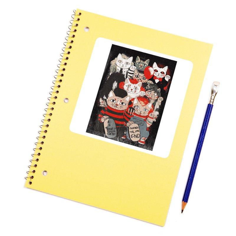 Horror Maneki Neko Vintage Gang Halloween Party 2019 T-Shirt Accessories Sticker by miskel's Shop
