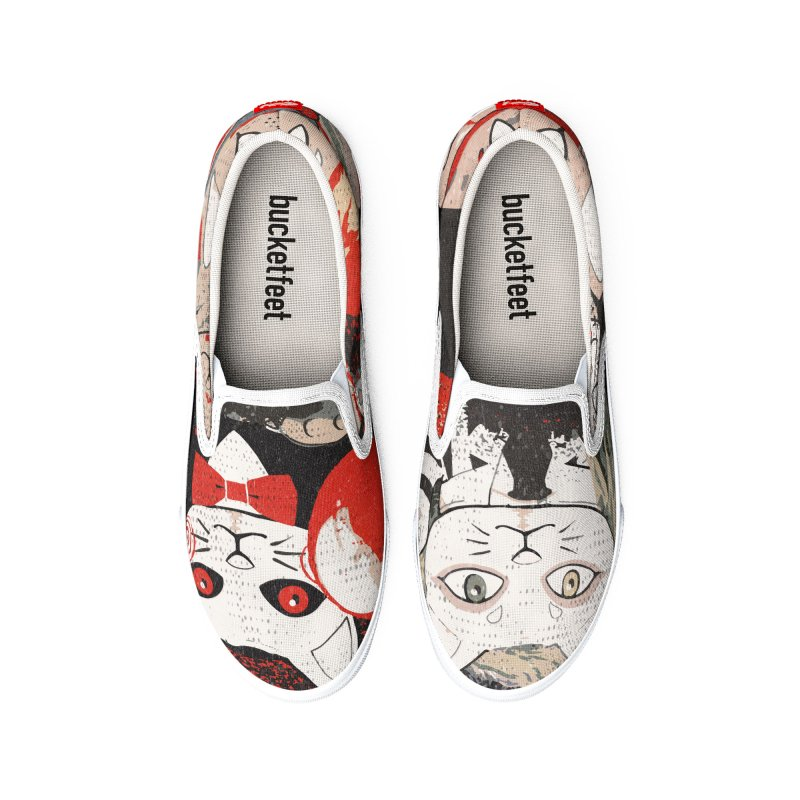 Horror Maneki Neko Vintage Gang Halloween Party 2019 T-Shirt Women's Shoes by miskel's Shop