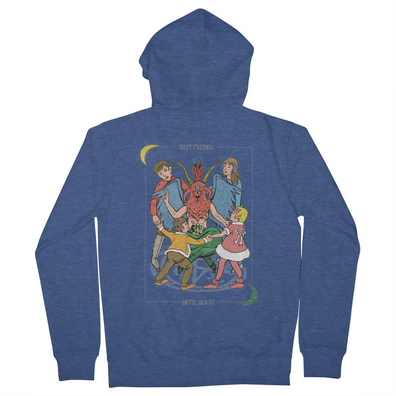 Best Friends Until Death Men's French Terry Zip-Up Hoody by miskel's Shop