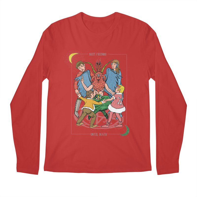 Best Friends Until Death Men's Regular Longsleeve T-Shirt by miskel's Shop