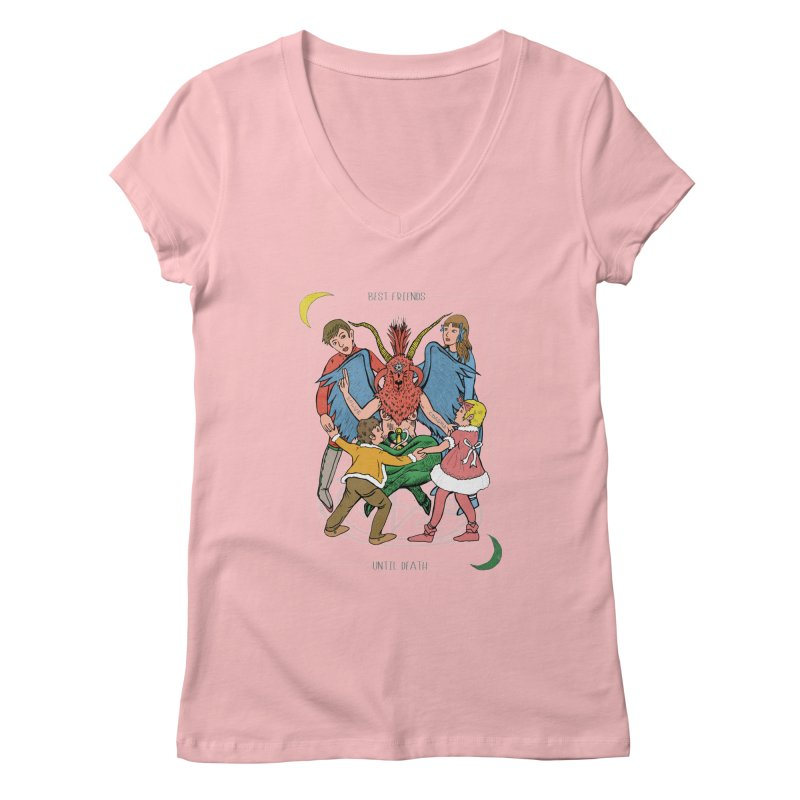 Best Friends Until Death Women's Regular V-Neck by miskel's Shop