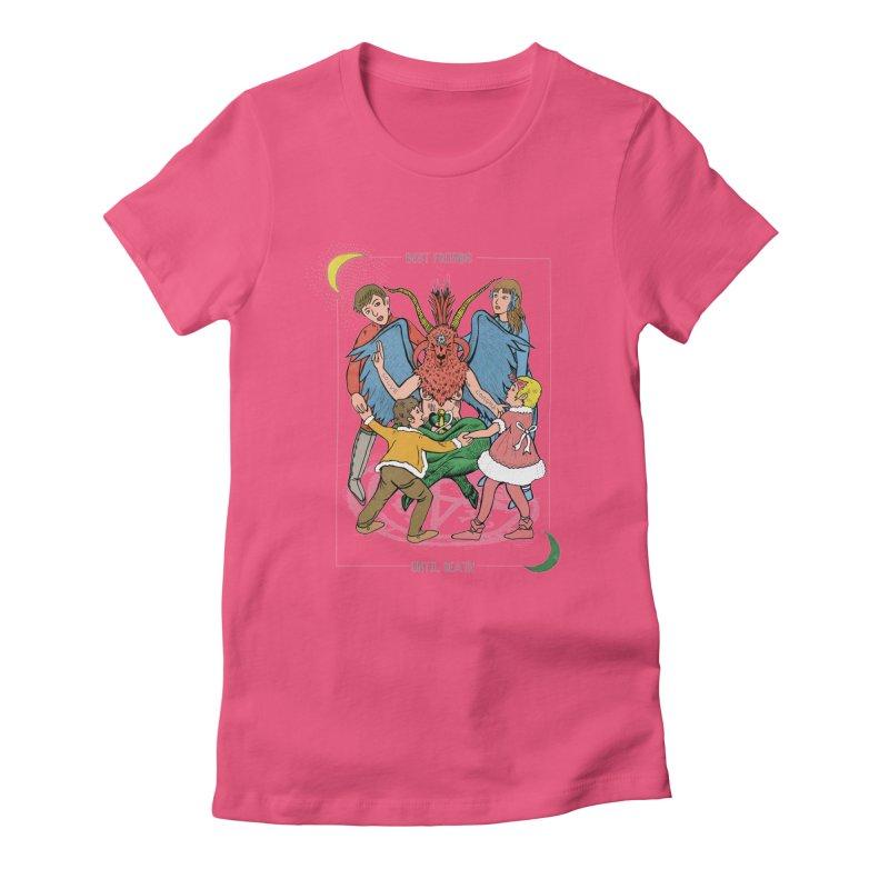 Best Friends Until Death Women's Fitted T-Shirt by miskel's Shop