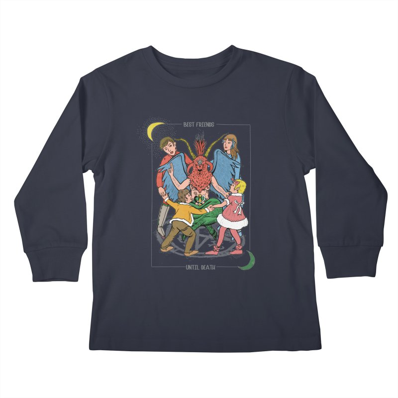 Best Friends Until Death Kids Longsleeve T-Shirt by miskel's Shop