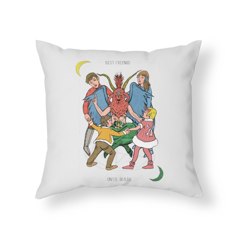 Best Friends Until Death Home Throw Pillow by miskel's Shop